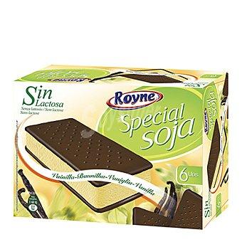 Royne Sandwich helado special soja sin lactosa 6 unidades