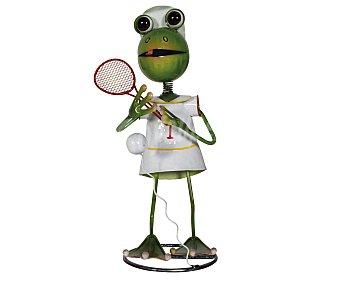 PROFILINE Figura de resina para jardín con la forma de una rana jugando al tenis, medidas: 23x21x44 centímetros 1 unidad
