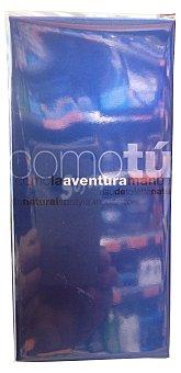 Como tú Eau toilette hombre aventura (botella negra tapón azul) Botella de 100 cc