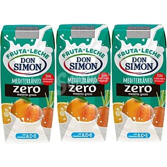 Don Simón Fruta + leche Funciona Max Mediterráneo Pack 4 envases 33 cl