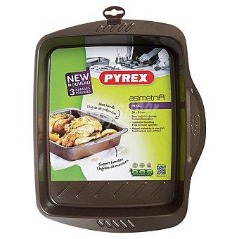 PYREX Asimetría Fuente rectangular de metal 30 x 24 cm