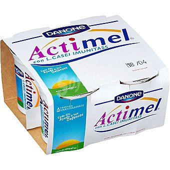 Actimel Danone Yogur natural batido Pack 4 unidades 125 g