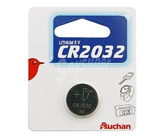 Auchan Pila litio CR2032 1 unidad
