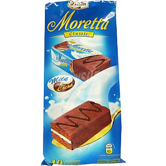 FREDDI Moretta Pastelitos de chocolate y leche paquete 300 g 10 unidades