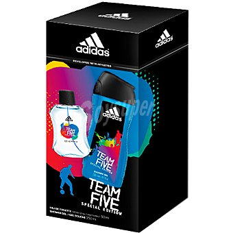 Adidas Eau de toilette masculina Team Five Special Edition spray 50 ml + gel... Spray 50 ml