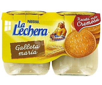 La Lechera Nestlé Postre lácteo de galleta maría Pack 2x135 g