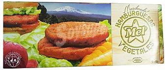 BURGUER MEL Hamburguesa vegetal congelada Paquete de 360 g (6 unidades)