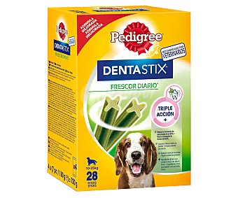 Pedigree Dentastix Snacks dental para perros de talla mediana aliento fresco Envase 720 g (28 u)