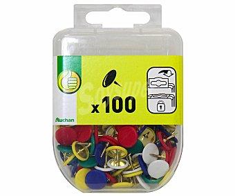 Productos Económicos Alcampo Caja de 100 chinchetas de colores 1 unidad