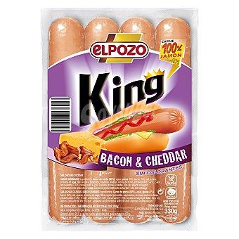 ElPozo Salchichas King Bacon-Cheddar 330 g