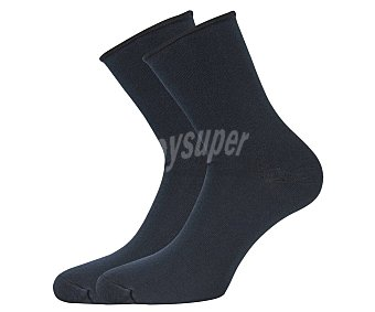 33 thirty three Pack de 2 pares de calcetines sin puño color azul marino, talla 43/46
