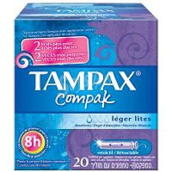 Tampax Tampón Compak Lites Caja 20 unid