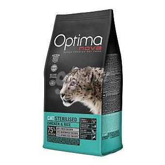 Optima Nova Pienso para gatos adultos óptima Nova Sterilised Pollo y arroz 2 Kg