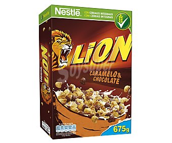 Lion Nestlé Cereales con chocolate y caramelo Lion 675 g