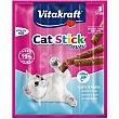 Snacks para gatos a base de sticks de mini salmón Envase 3 u x 6 g Vitakraft