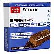 Barritas de energéticas sabor chocolate pack 3x35 g WEIDER