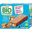 Bio barritas ecológicas con almendras, avellanas y chocolate con leche Envase 120 g Dukan