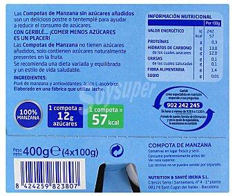 Gerblé Compota de Manzana 100 Gramos