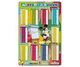 ERIK Lámina educativa Mickey, aprende a sumar 1 unidad