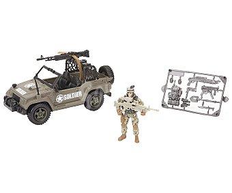 Soldier force Soldado con vehículo militar, incluye accesorios 1 unidad