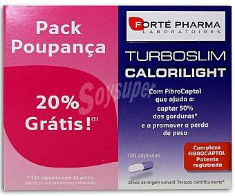 TURBOSLIM Calorlight Complemento alimenticio con fibra que ayuda a captar el 50% de las grasas, 120 C