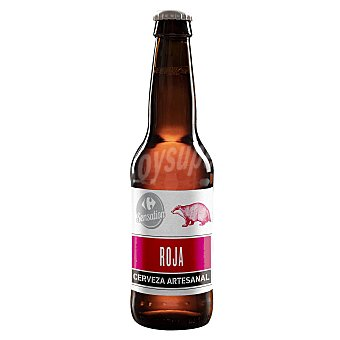 Sensation Cerveza artesana Carrefour Roja Botella 33 cl