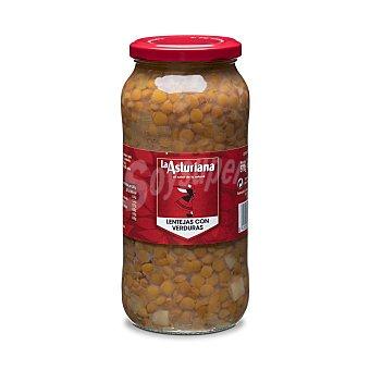 La Asturiana Lentejas con patatas, zanahoria y puerro cocidas Frasco 400GR