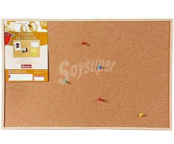 Auchan Tablero de corcho con marco de madera y medidad de 60 x 40 cm auchan