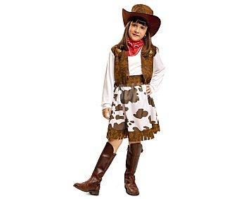 My other me Disfraz infantil Vaquera color blanco y marrón, 10-12 años 1 unidad