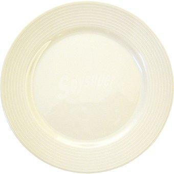 SANTA CLARA Iria Plato de postre de porcelana en color blanco