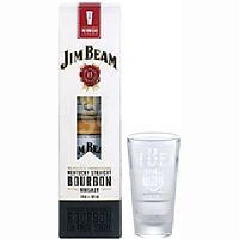 Jin bean Whisky Botella 70 cl + Vaso