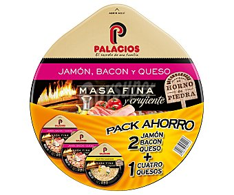 Palacios Pizza masa fina y crujiente 2 unidades