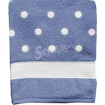 CASACTUAL Sevilla toalla jacquard de ducha en color azul