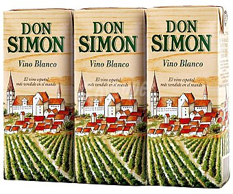 Don Simón Vino Blanco 3 unidades de 200 ml