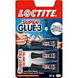 Super Glue-3 pegamento powerflex Mini Trio universal instantáneo blister 3 tubos 1 g Loctite