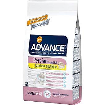 Advance Affinity Alimento de alta gama para gatos de pelo largo con fibra de avena rico en pollo y arroz Persian Long Hair Bolsa 1,5 kg