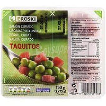 Eroski Taquitos de jamón serrano Pack 2x75 g