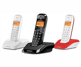 MOTOROLA STARTAC S1203 Teléfono inalámbrico trío Dect, identificador de llamadas, manos libres, agenda para 50 contactos