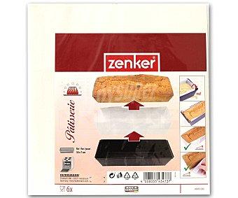 ZENKER Paquete de 6 papeles vegetales de horno para moldes rectos, 30x7 centímetros 1 Unidad