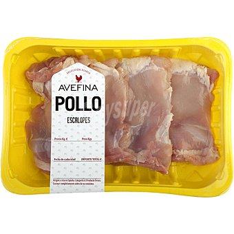 AVEFINA Escalope de Pollo - Peso Aproximado Bandeja 650 g peso aprox. (6 unidades)