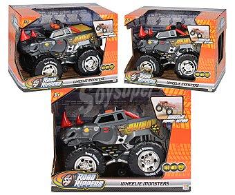 ROAD RIPPERS Wheelie Monsters Coche todoterreno Wheelie Monster motorizado, con sonidos, luces y música RIPPERS.