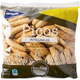 Hipercor Picos camperos de pan integrales bolsa 250 g Bolsa 250 g