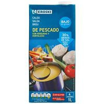 Eroski Caldo de pescado Brik 1 litro
