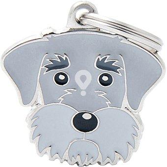 Placa identificativa para collares de perros esmaltada en material analergico unidad 1