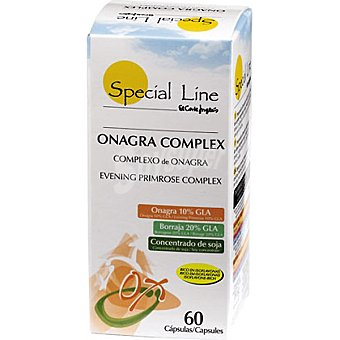 Special Line cápsulas de onagra complex concentrado de soja rico con isoflavonas  bote 60 unidades