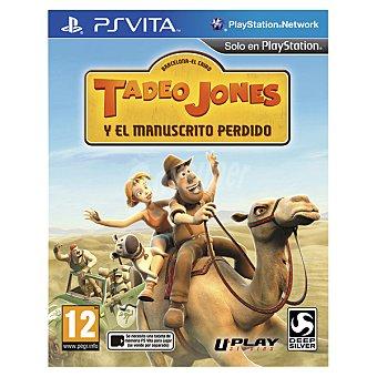 Ps vita Videojuego Tadeo Jones Y El Manuscrito Perdido 1 unidad