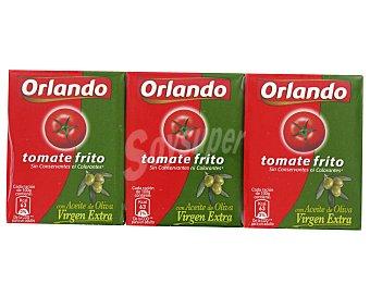 Orlando Tomate Frito aceite de oliva Pack de 3 Unidades de 210 Gramos