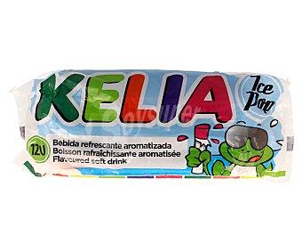 Kelia Bebidas refrescantes aromatizadas (golosinas para congelar con zumo de fruta) 12 unidades de 45 mililitros
