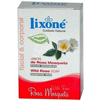 Lixone Pastilla de jabón de rosa mosqueta piel sensible Envase 125 g