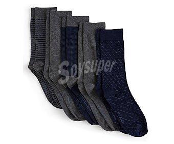 In Extenso Lote de 5 pares de calcetines para hombre Talla 43/46.